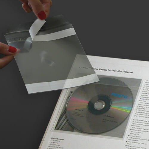CD Sleeve, Self Adhesive, Economical (100 pcs)