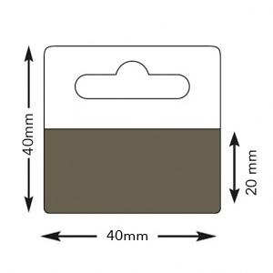 Hang Tabs back adhesive clear