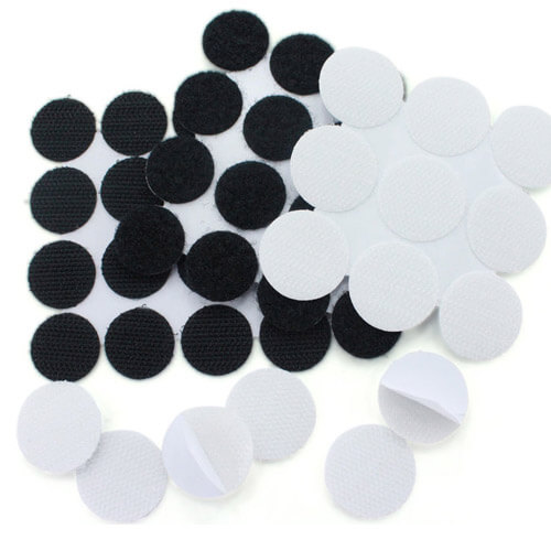 Velcro Dots Back Adhesive (20 mm Round, 2500 pcs/roll)